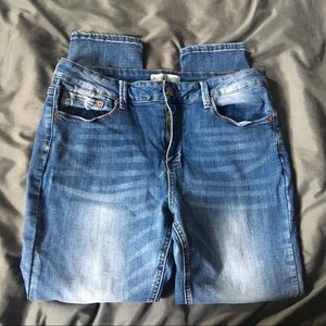 MUDD distressed faded wash skinny jeans EUC